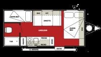 2013 Wildwood X-Lite 221RB Floor Plan