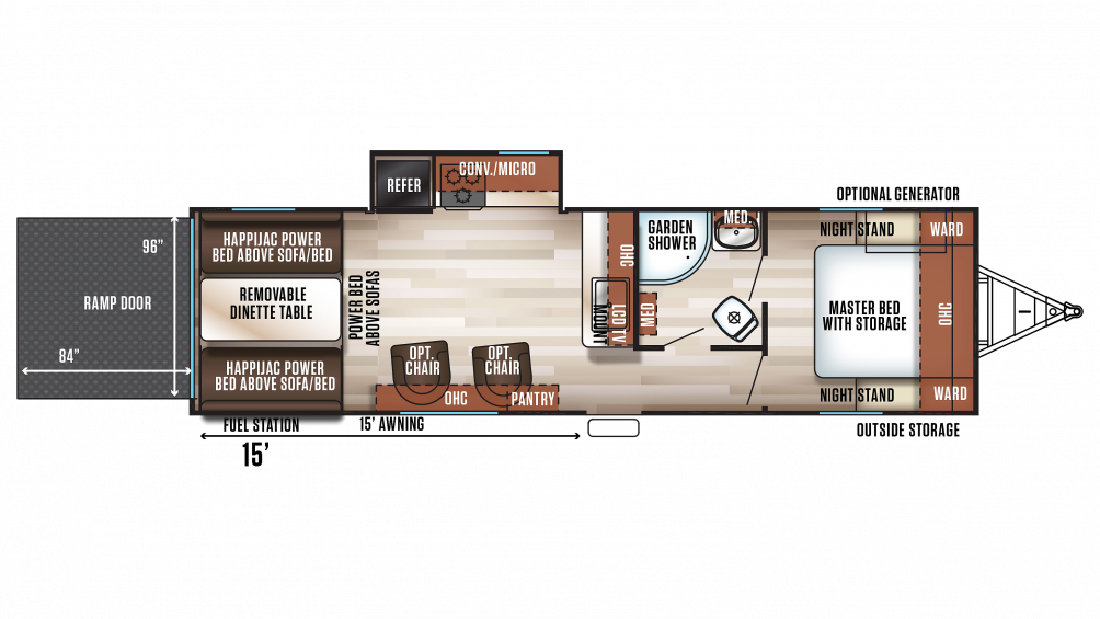 2018 Wolf Pack 23PACK15 Floor Plan Img