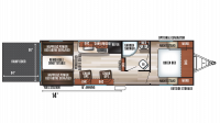 2019 Wolf Pack 24PACK14+ Floor Plan