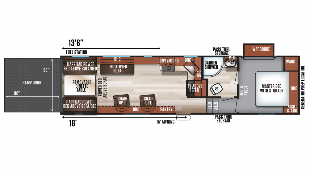 2018 Wolf Pack 275PACK18 Floor Plan Img