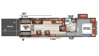 2018 Wolf Pack 275PACK18 Floor Plan