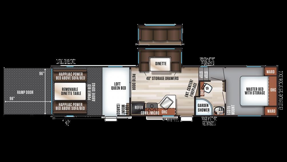 2018 Wolf Pack 295PACK13 Floor Plan Img
