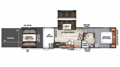 2018 Wolf Pack 295PACK13 Floor Plan Img
