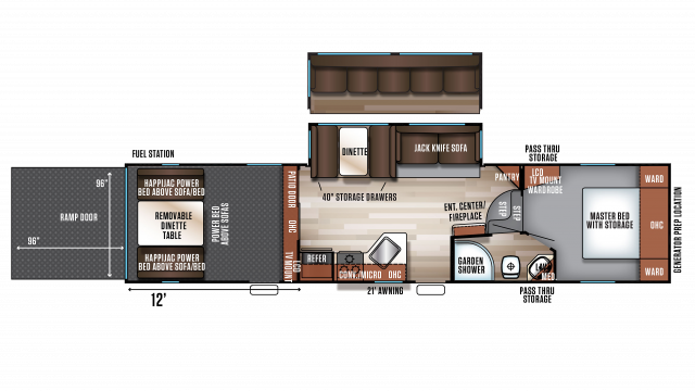 2018 Wolf Pack 315PACK12 Floor Plan Img