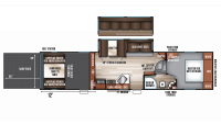 2018 Wolf Pack 315PACK12 Floor Plan