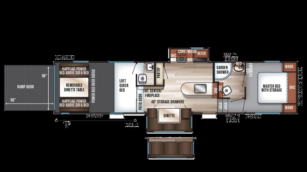 2018 Wolf Pack 325PACK13 Floor Plan Img