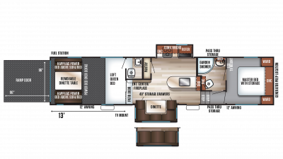 2018 Wolf Pack 325PACK13 Floor Plan Img