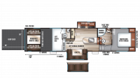 2019 Wolf Pack 325PACK13 Floor Plan