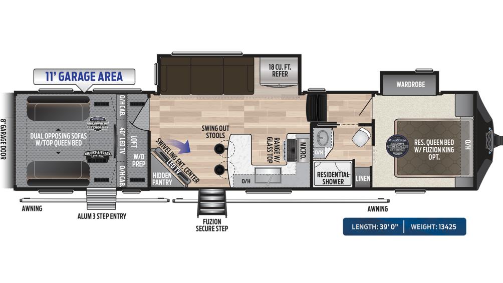 Fuzion 369 Floor Plan - 2020
