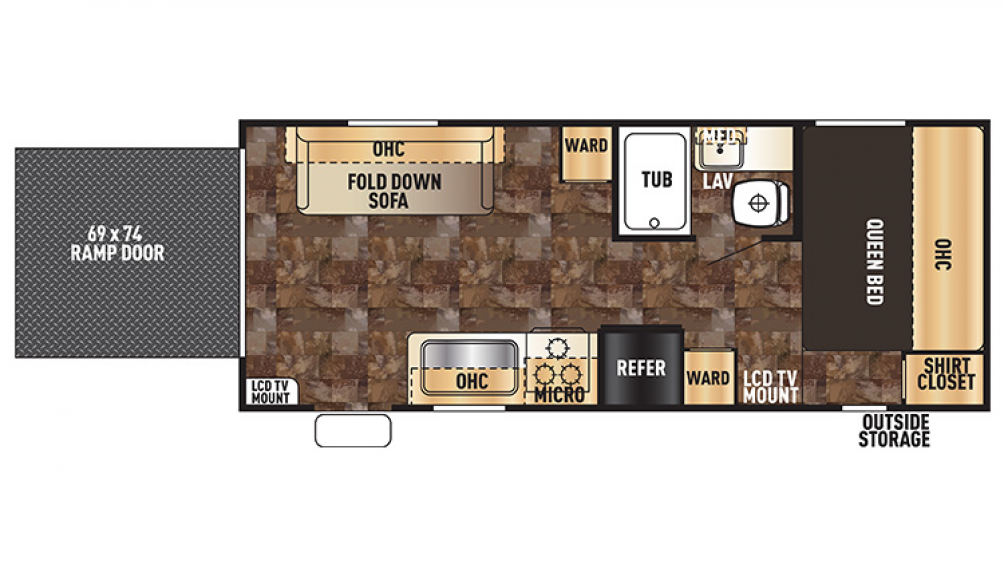Grey Wolf 19RR Floor Plan - 2016