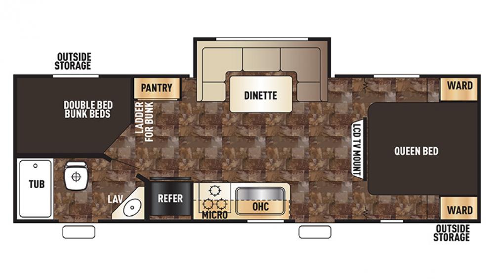Grey Wolf 23DBH Floor Plan - 2016