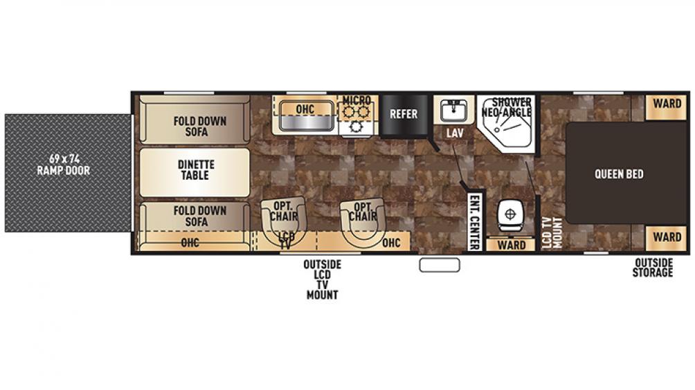 Grey Wolf 26RR Floor Plan - 2016