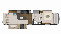 2011 Big Country 3450TS Floor Plan