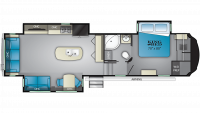 2019 Bighorn 3370EL Floor Plan