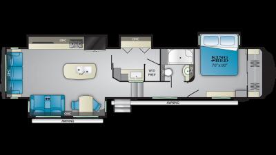 2019 Bighorn 3925MLP Floor Plan Img