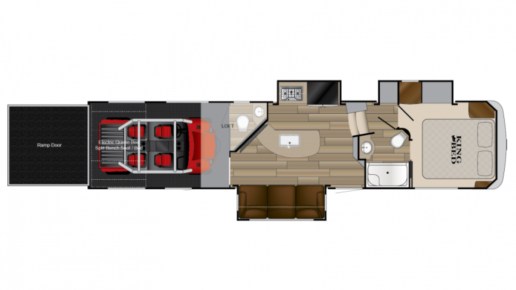 Cyclone 3513 Toy Hauler Floor Plan