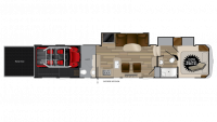 2019 Cyclone 4115 Floor Plan