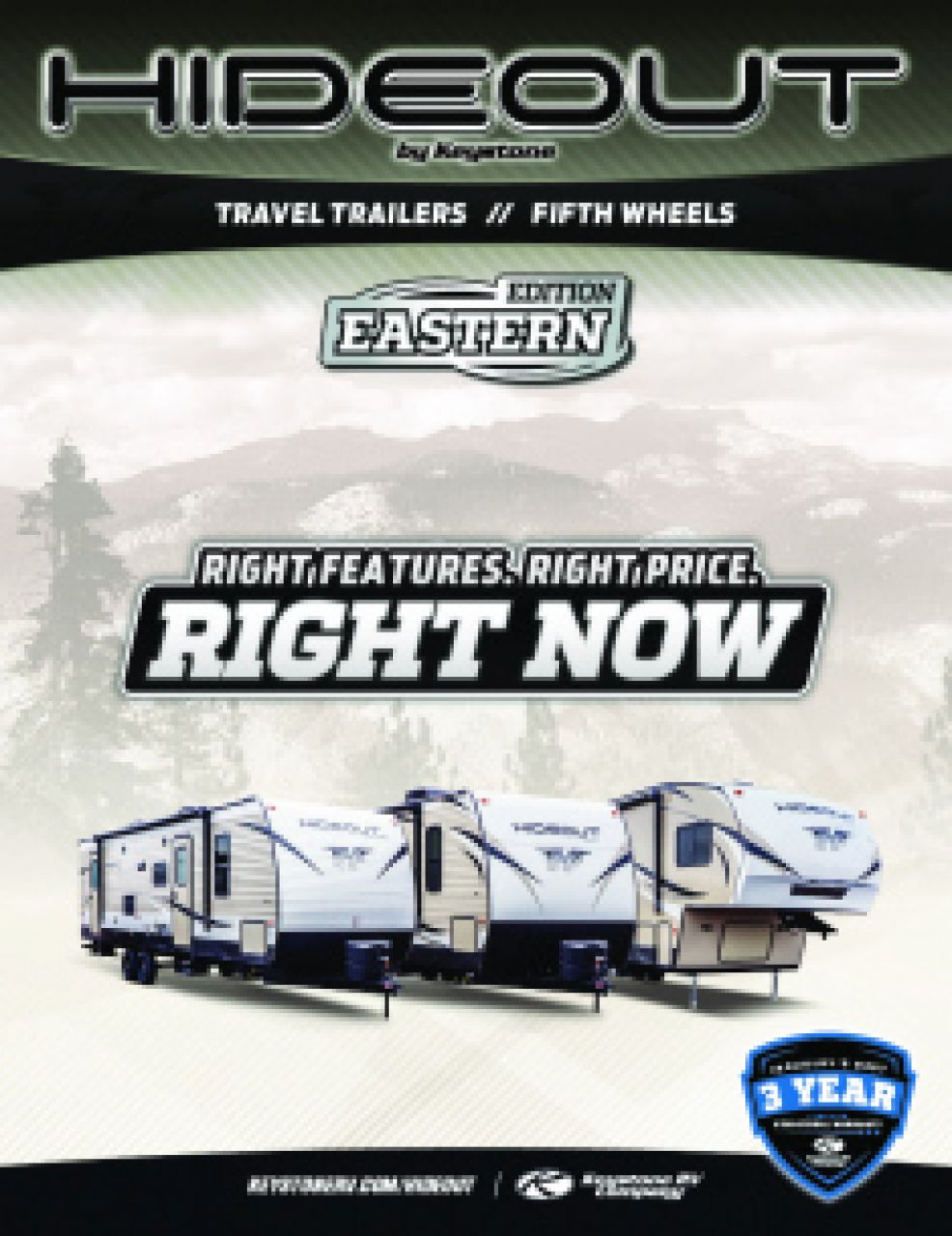 2019 Keystone Hideout RV Brochure Cover