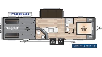 Impact 332 Floor Plan - 2020