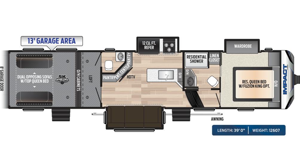 Impact 367 Floor Plan - 2020