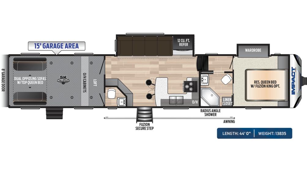 Impact 415 Floor Plan - 2020