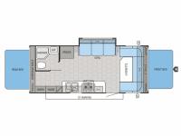 2014 Jay Feather Ultra Lite X23B Floor Plan