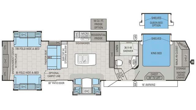 2016 Designer 39RE Floor Plan
