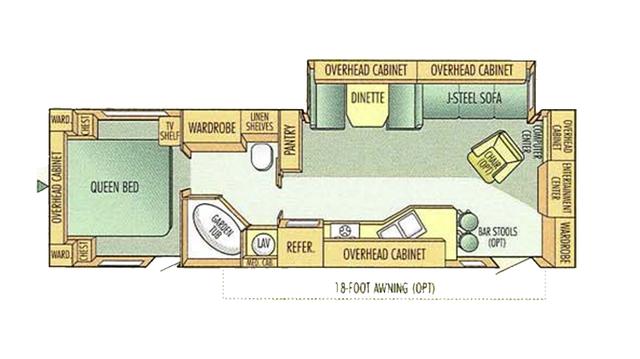 2002 Eagle 300FL Floor Plan