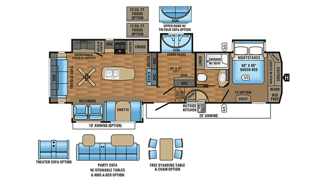 2017 Eagle 355MBQS Floor Plan