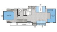 2016 Greyhawk 29ME Floor Plan