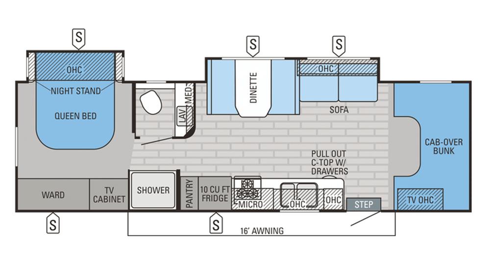 2016 Greyhawk 29MV Floor Plan