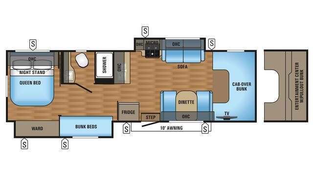 2017 Greyhawk 31FS Floor Plan
