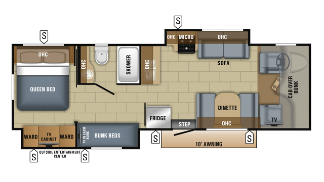 2018 Greyhawk Prestige 31fsp Floor Plan