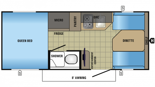2018 Hummingbird 16FD Floor Plan