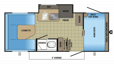 2018 Hummingbird 17BH Floor Plan