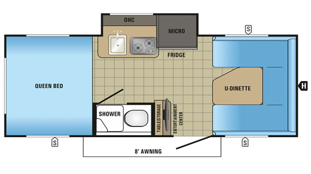 2018 Hummingbird 17FD Floor Plan