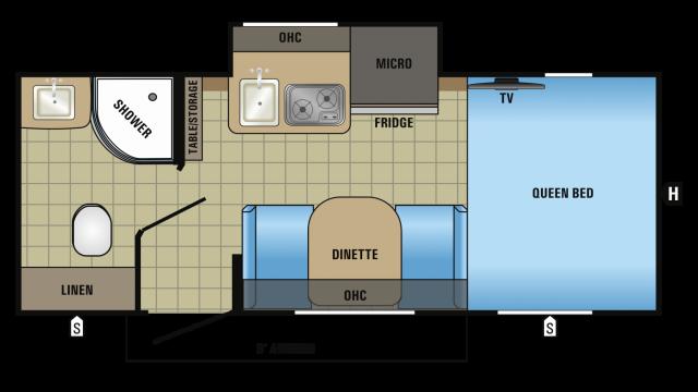 2018 Hummingbird 17RB Floor Plan