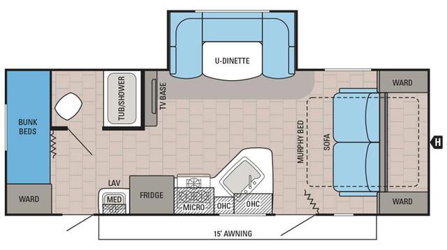 2016 Jay Feather Ultra Lite 23bhm Floor Plan