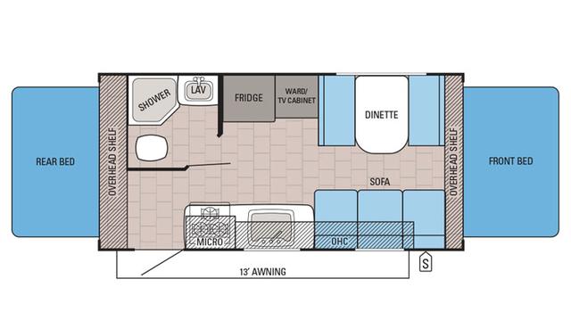 2016 Jay Feather Ultra Lite X19H Floor Plan