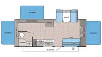 2016 Jay Feather Ultra Lite X23F Floor Plan