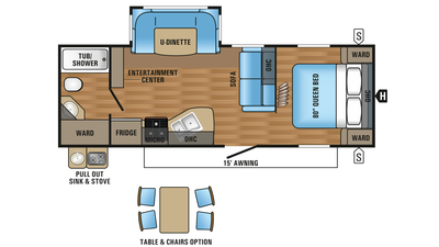 2018 Jay Flight 24RBS Floor Plan