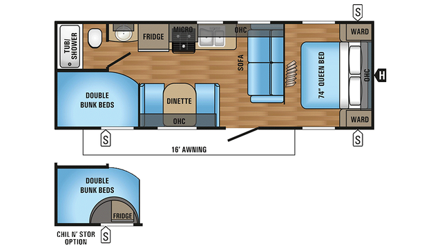 2018 Jay Flight 26BH Floor Plan