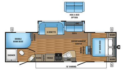 2018 Jay Flight 28BHBE Floor Plan