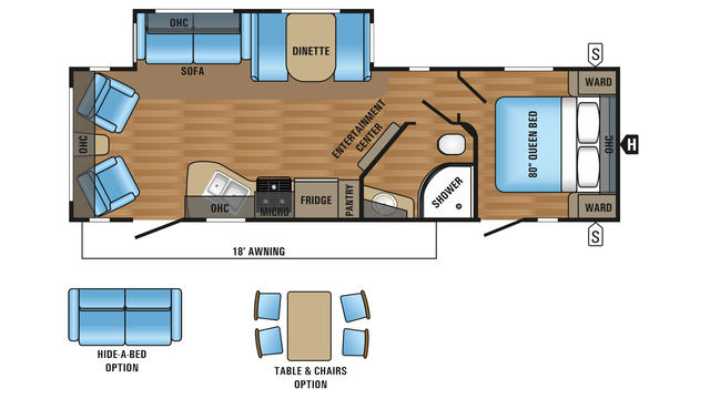 2018 Jay Flight 28RLS Floor Plan
