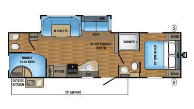 2018 Jay Flight 29BHDB Floor Plan