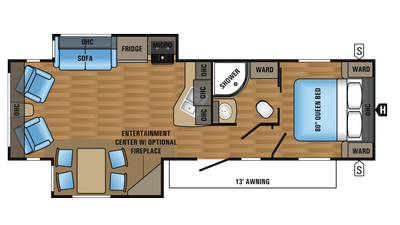 2018 Jay Flight 29RLDS Floor Plan