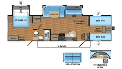 2018 Jay Flight 31QBDS Floor Plan