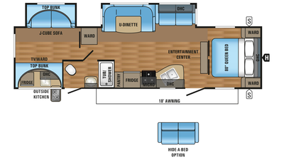 2018 Jay Flight 32BHDS Floor Plan