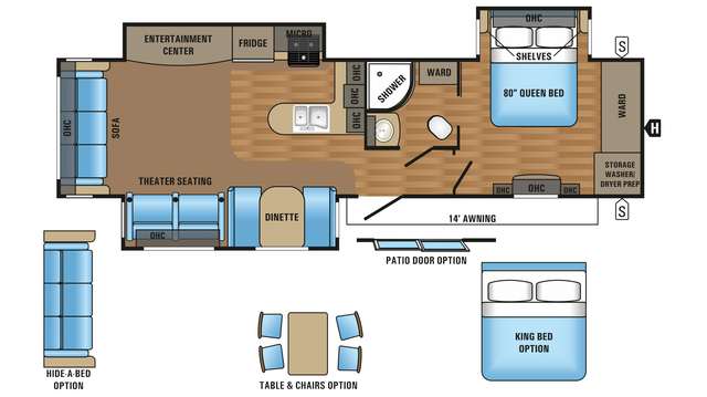 2018 Jay Flight 34RSBS Floor Plan