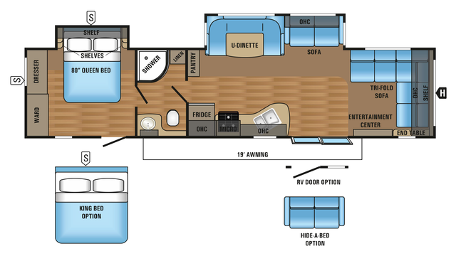 2018 Jay Flight 38FDDS Floor Plan
